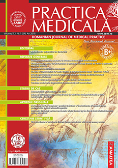 Revista Practica Medicala, Vol. XIII, Nr. 1 (54), 2018