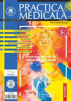 Revista Practica Medicala, Vol. XIII, Nr. S3 (60), 2018