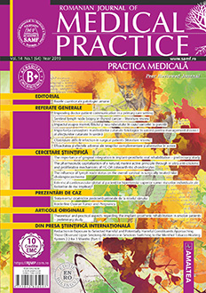 Romanian Journal of Medical Practice | Practica Medicala, Vol. XIV, No. 1 (64), 2019