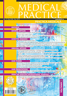Romanian Journal of Medical Practice | Practica Medicala, Vol. XIV, No. 2 (66), 2019