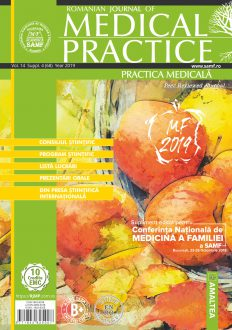 Romanian Journal of Medical Practice | Practica Medicala, Vol. XIV, Suppl. 4 (68), 2019