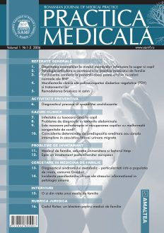 Romanian Journal of Medical Practice   Vol. I, No. 1-2, 2006