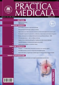 Romanian Journal of Medical Practice | Vol. VII, No. 1 (25), 2012