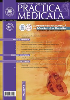 Romanian Journal of Medical Practice   Vol. VII, No. 3 (27), 2012