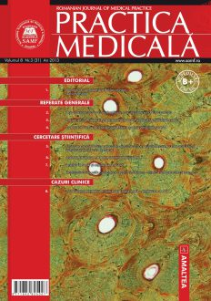 Romanian Journal of Medical Practice   Vol. VIII, No. 3 (31), 2013