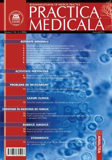 Romanian Journal of Medical Practice | Vol. I, No. 3-4, 2006