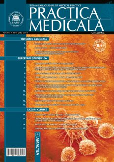 Romanian Journal of Medical Practice   Vol. VII, No. 4 (28), 2012